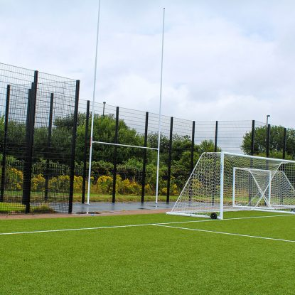 Super Rebound Fencing with Goal Storage Recess