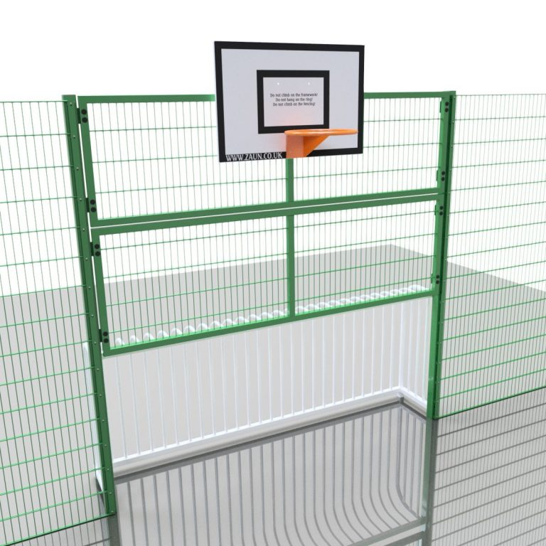Junior Goal with Railing Rebound & Basketball Unit